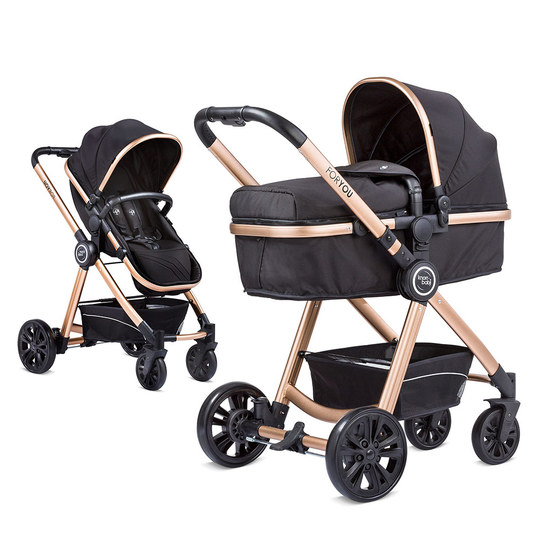 knorr baby kombi kinderwagen for you schwarz. Black Bedroom Furniture Sets. Home Design Ideas