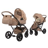Kombi-Kinderwagen Voletto Happy Colour - Grau Beige