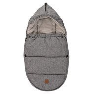 Fleece footmuff Hoody for infant carriers and bathtubs - Melange Anthracite Grey