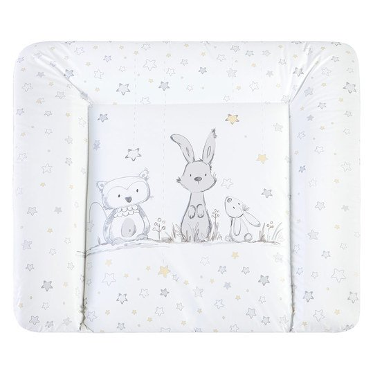 Foil changing mat Softy - bunny & owl white
