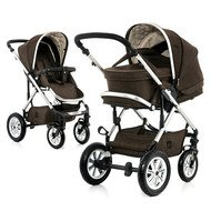 Kombi-Kinderwagen Lusso City - Brown Melange