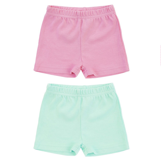 Shorts 2er Pack - Uni Rosa Mint - Gr. 74/80