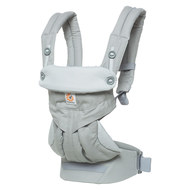 Baby carrier 360° for 4 carrying positions with lordosis support - Pearl Grey