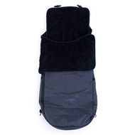 Fußsack All Terrain Softshell Cuddle - inkl. Wintercover - Schwarz-Anthrazit