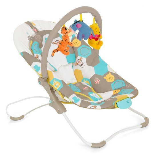 Babywippe Busy Bouncer - Winnie Pooh Spring in the Wood Beige