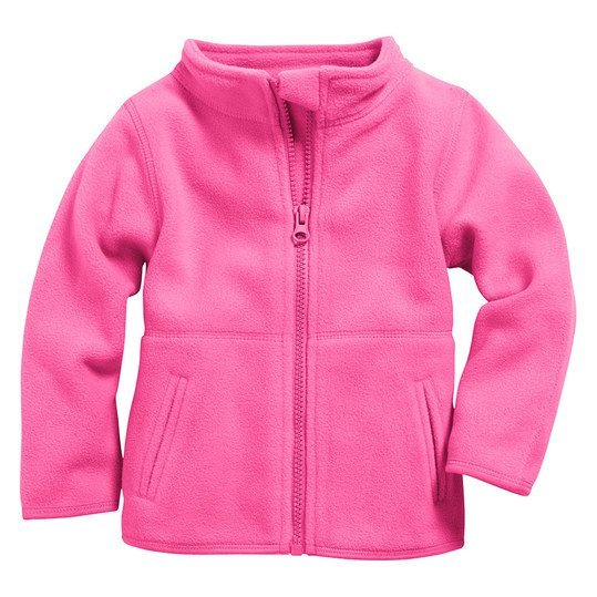Fleece-Jacke - Uni Pink - Gr. 74