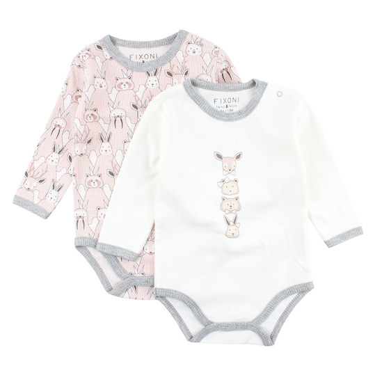 Body 2er Pack Langarm - Future Rosa - Gr. 68
