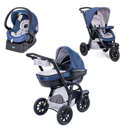 Kinderwagenset Trio-System Activ3 Top mit Kit Car - Blue Passion