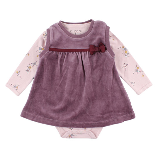 2 tlg. Set Body + Kleid Nicki - Free Bordeaux Rosa - Gr. 56