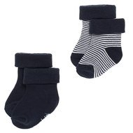 Socken 2er Pack - Guzzi Ringel Navy - Gr. 3 - 6 Monate