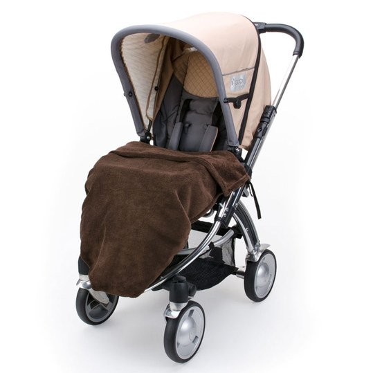 Fleece Kinderwagen-Decke - Braun