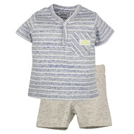 2-tlg. Set T-Shirt + Shorts - Surf Workshop Blau