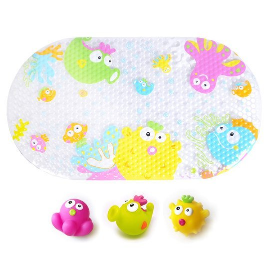 Bathtub mat with 3 spray animals - Underwater world