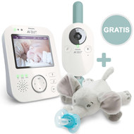Video-Babyphone digital 3,5 Zoll - SCD841/26 + Gratis Snuggle Elefant mit Schnuller Ultra Soft - Silikon 0-6 M