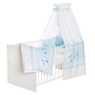 Complete Bed Classic-Line White 70 x 140 cm - Birdy - Light Blue