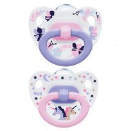 Schnuller 2er Pack Happy Days - Silikon 0-6 M - Rosa Lila