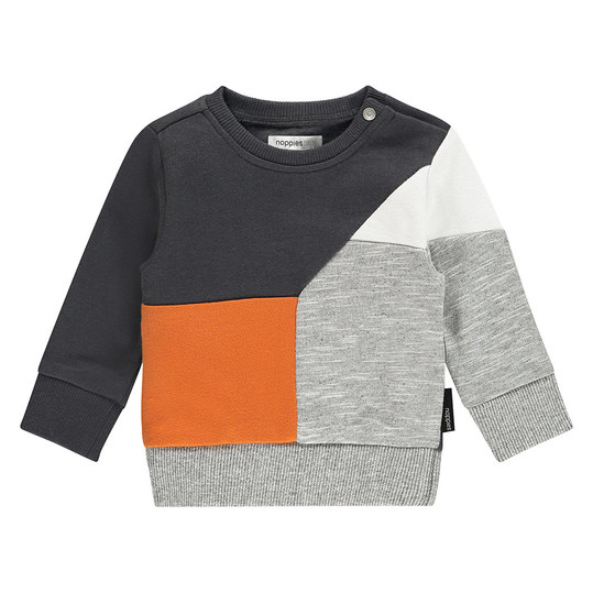 Sweatshirt Truckee - Orange Schwarz Grau - Gr. 62