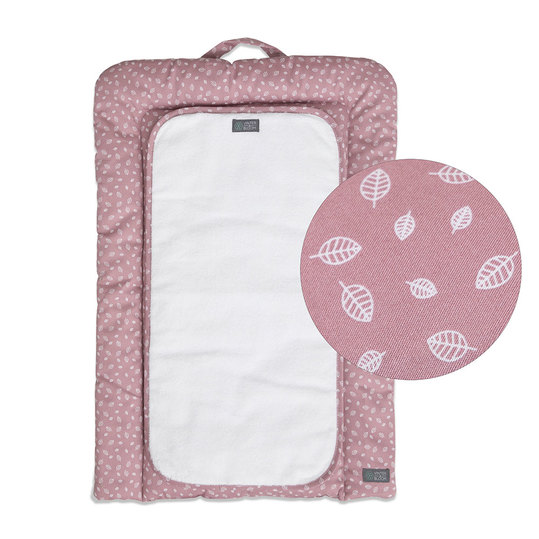 Wickelauflage Nordic Leaf Changing Mat - Soft Pink