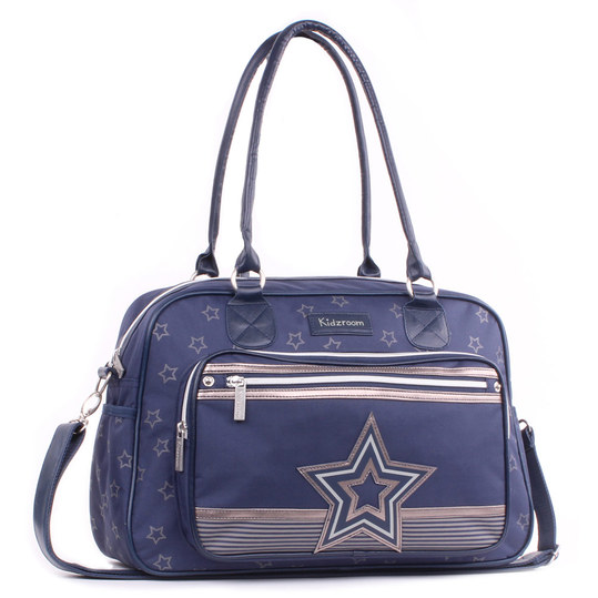 Wickeltasche Shining Star mit Applikation - Blau