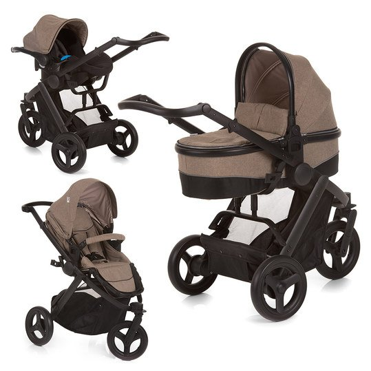 Kinderwagen-Set Maxan 3 Plus Trio Set - Melange Sand