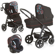 Kinderwagen-Set Montreal Plus Trioset - Black