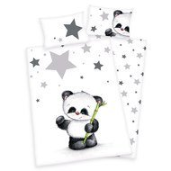 Reversible bed linen 100 x 135 cm - Small panda
