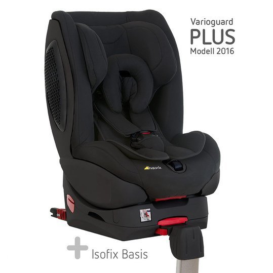 Reboard-Kindersitz Varioguard Plus inkl. Isofix Basis - Black-Black Edition