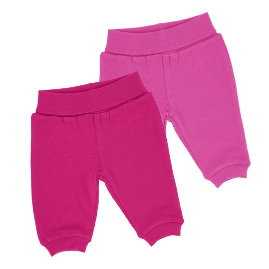 Jogginghose 2er Pack Girls Gr. 62/68 - Rosa-Pink
