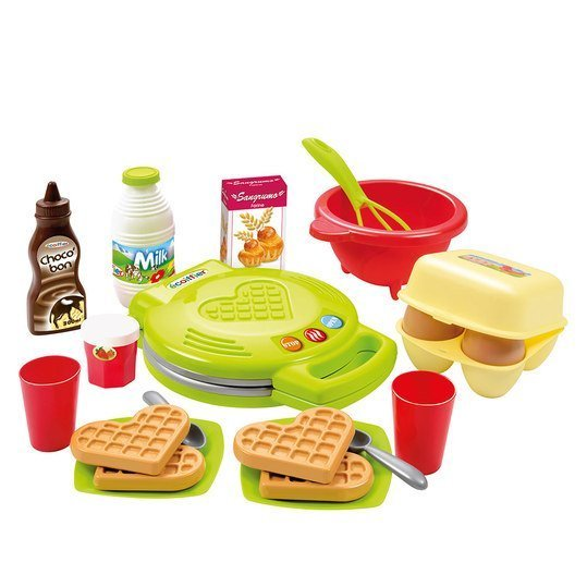 Baking set with waffle iron
