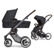Kombi-Kinderwagen EVO Gestell Grau Farmer Fishbone Moonrock - Dark Grey