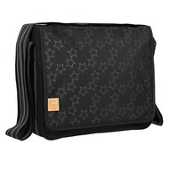 Wickeltasche Casual Messenger Bag - Reflective Star - Black
