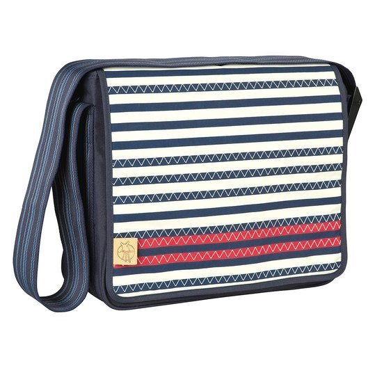 Wickeltasche Casual Messenger Bag - Striped Zigzag - Navy