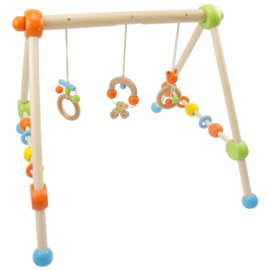 Play-Trapeze Baby-Gym made of wood