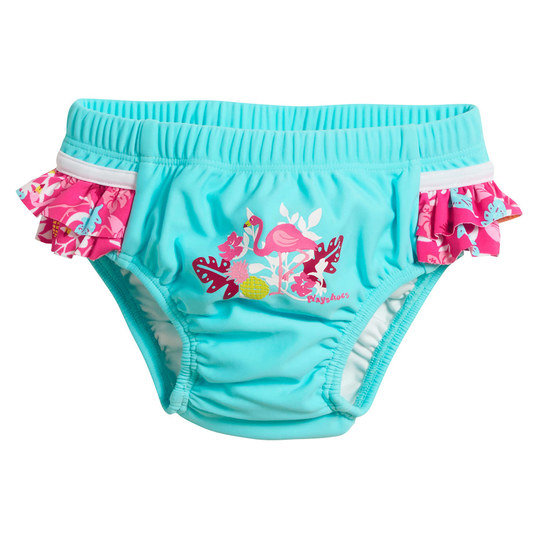Bade-Windelhose - Flamingo Türkis Pink - Gr. 62/68