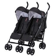 Sibling & Twin Buggy Side by Side - Black