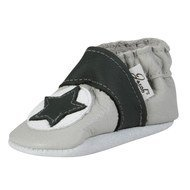 Leather Shoe Star - Grey Anthracite - Gr. 18 / 19