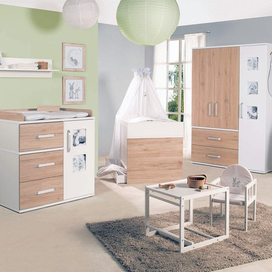 roba kinderzimmer pepe mit 3 t rigem schrank bett schmaler wickelkommode. Black Bedroom Furniture Sets. Home Design Ideas
