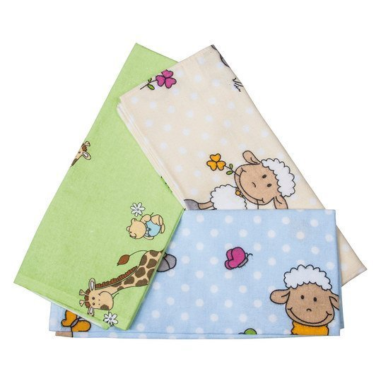 Moltontuch 5er Pack 80 x 80 cm - Bunt