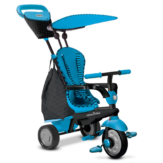 Dreirad Glow 4 in 1 mit Touch Steering - Blue