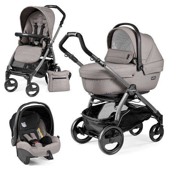 Kinderwagen-Set Book Plus 51 Xl Sportivo Modular Gestell Jet / Anthrazit - Mod Beige