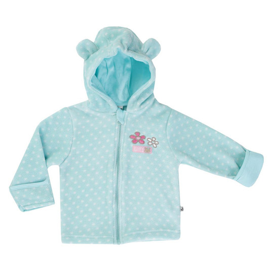 Kapuzenjacke Fleece - Kitty Türkis - Gr. 56