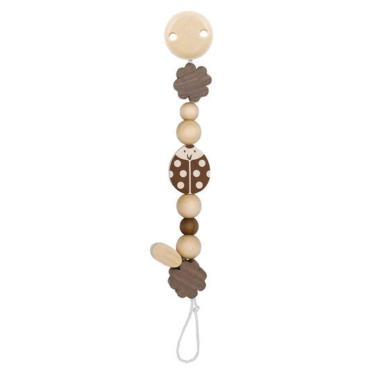 Wooden pacifier chain - Ladybird Nature