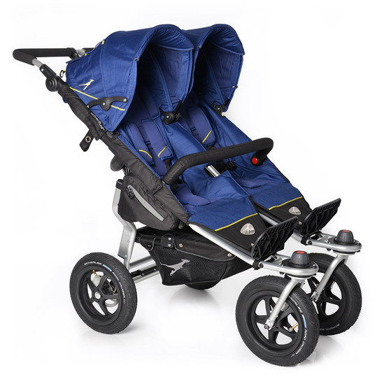 Geschwisterwagen Twin Adventure - Twilight Blue