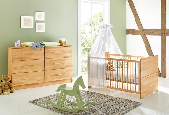 pinolino sparset kinderzimmer natura mit extrabreiter wickelkommode buche massiv. Black Bedroom Furniture Sets. Home Design Ideas