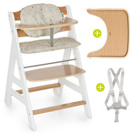 High chair Beta Plus - White Natur - Dots Sand