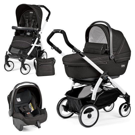 Kinderwagen-Set Book Plus 51 XL Sportivo Modular Gestell Weiß - Mod Black