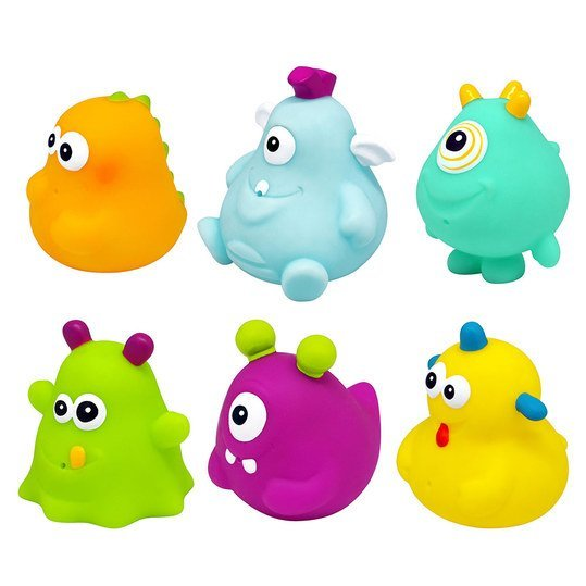 Bath spray figure 6er pack - Happy Monster