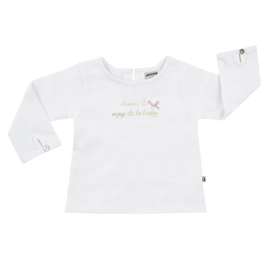Langarmshirt Be Happy - Offwhite - Gr. 56