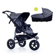 Kombi-Kinderwagen Joggster Adventure 2 & Babywanne Multi X - Quiet Shade