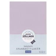fitted sheet for cot 60 x 120 / 70 x 140 cm - lilac